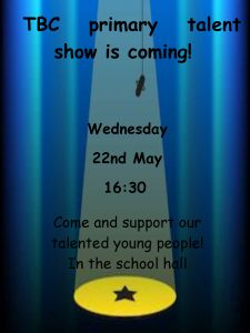primary talent show poster 2019